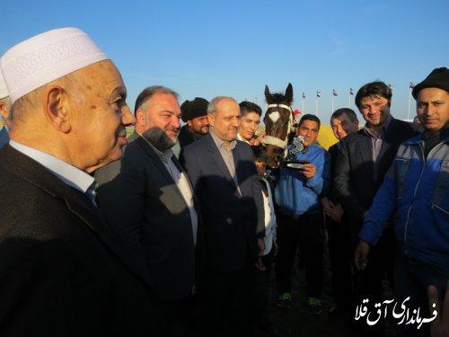 هفته قهرمانی مسابقات سوارکاری کورس پائیزه شهرستان آق قلا برگزار شد