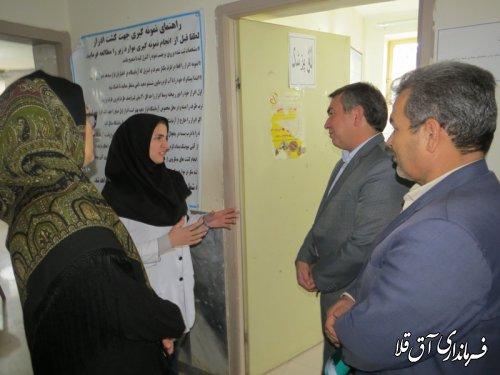 مشکلات درمانگاه روستای عطا آباد بخش مرکزی شهرستان آق قلا بررسی شد