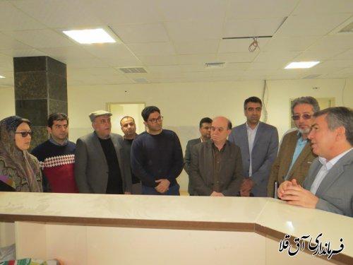 بازدید فرماندار و مسئولین بهداشت و درمان استان از بخش اعصاب و روان بیمارستان آل جلیل آق قلا