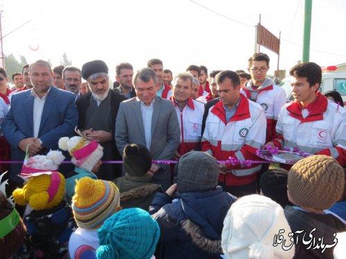 نمایشگاه توانمندی های جمعیت هلال احمر شهرستان آق قلا افتتاح شد