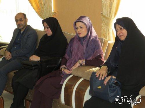 آئین تکریم و معارفه رئیس اداره فرهنگ و ارشاد اسلامی شهرستان آق قلا برگزار شد