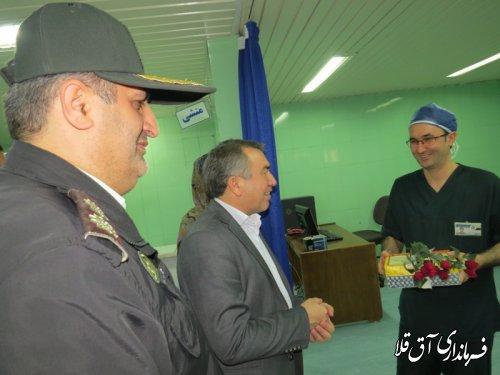 نماینده عالی دولت با پرستاران بیمارستان آل جلیل شهر آق قلا دیدار کرد