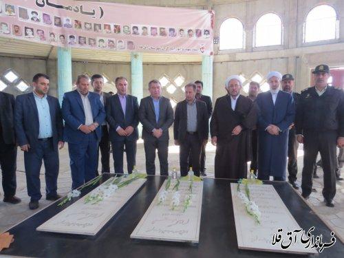ادای احترام دستیار ویژه رئیس جمهور در امور اقوام به مقام شامخ شهدای گمنام شهر آق قلا