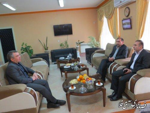 دیدار معاون اعتبارات بانک ملت استان با نماینده عالی دولت در شهرستان آق قلا