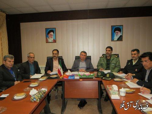 نهمین جلسه شورای هماهنگی مبارزه با مواد مخدر شهرستان آق قلا برگزار شد