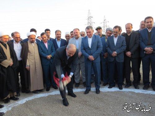 عملیات اجرایی احداث نیروگاه 25 مگاواتی شهرستان آق قلا آغاز شد