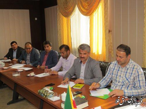 آخرین جلسه کارگروه تنظیم بازار شهرستان آق قلا در سال جاری برگزار شد
