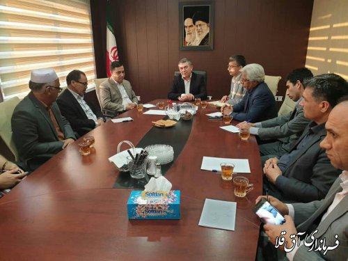 جلسه هماهنگی دهکده گردشگری در مجموعه سوارکاری شهرستان آق قلا برگزار شد