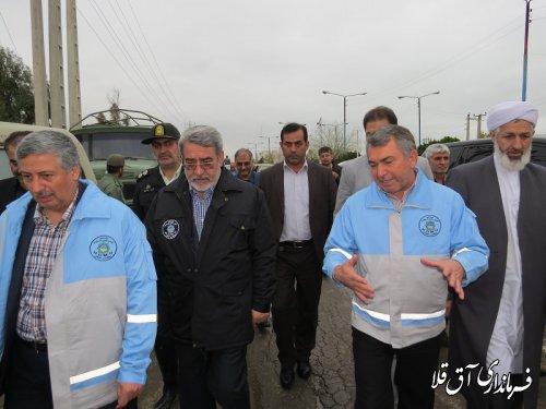 وزیر کشور وارد شهرستان آق قلا شد