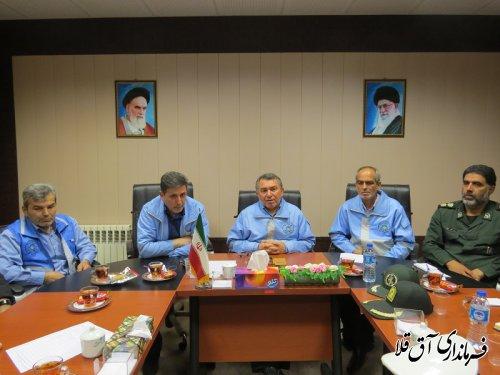 جلسه هماهنگی ستاد مدیریت بحران شهرستان آق قلا برگزار شد
