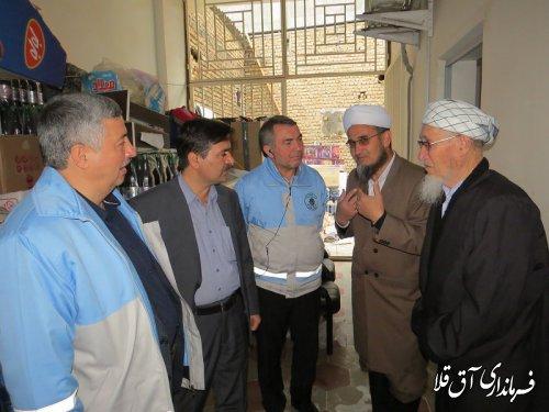 سرپرست استانداری گلستان با مدیر حوزه علمیه مصلحی شهر آق قلا دیدار کرد
