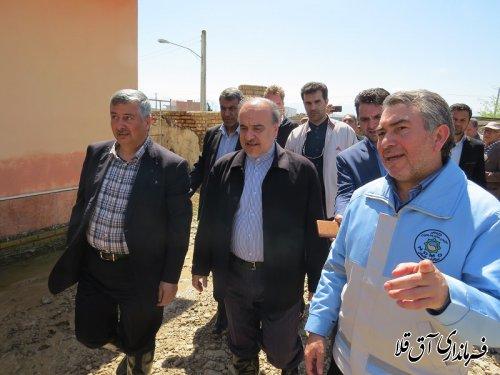 وزیر ورزش و جوانان به منظور بازدید از مناطق سیل زده استان٬وارد شهرستان آق قلا شد