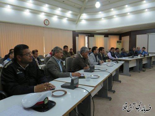 هشتمین جلسه ستاد مدیریت بحران شهرستان آق قلا برگزار شد