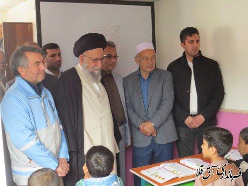 نماینده ولی فقیه در استان از مدارس شهرستان سیل زده آق قلا بازدید بعمل آورد
