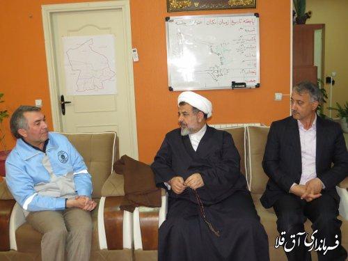 فرماندارویژه و امام جمعه گنبدکاووس با رئیس ستاد مدیریت بحران شهرستان آق قلا دیدار کردند