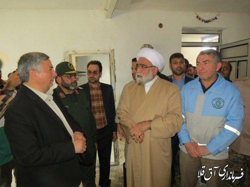 تولیت آستان قدس رضوی از مناطق سیل زده شهرستان آق قلا بازدید بعمل آورد