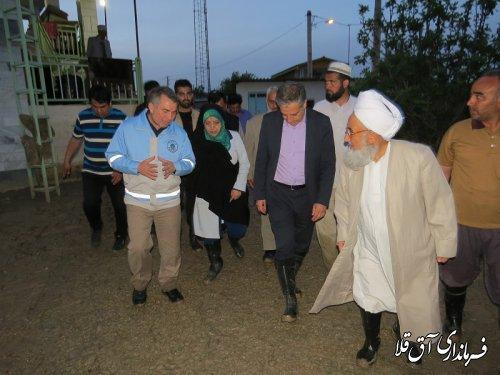 معاون رئیس جمهور در امور زنان و خانواده از مناطق سیل زده شهرستان آق قلا بازدید کرد