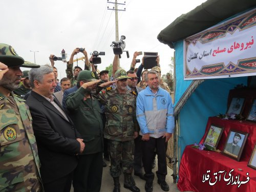 مراسم‹‹رژه خدمت››به مناسبت روز ارتش در شهرستان آق قلا برگزار شد
