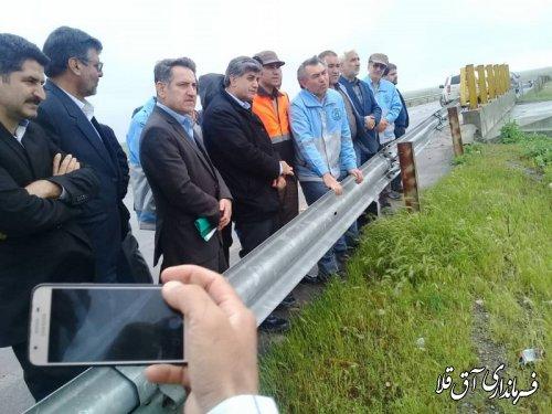 معاون نظارت معاون اول رئیس جمهور از مناطق سیل زده شهرستان آق قلا بازدید بعمل آورد