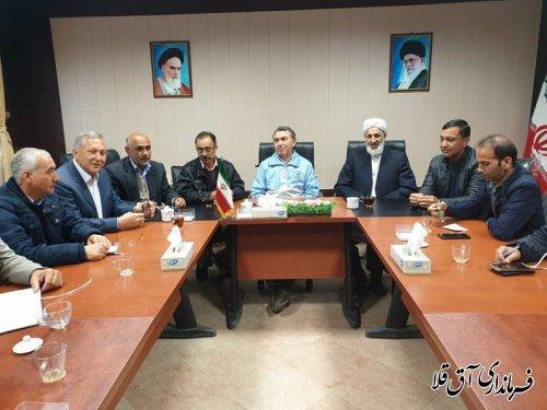فرماندار و رئیس ستاد مدیریت بحران با تشکل های مردمی شهرستان آق قلا نشست صمیمی برگزار کرد