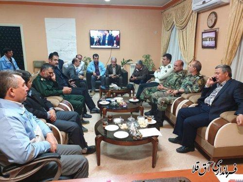 جلسه ستاد مدیریت بحران در شهرستان آق قلا برگزار شد