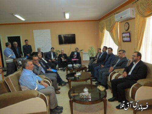 جلسه ستاد بازسازی و نوسازی واحدهای مسکونی شهرستان آق قلا برگزار شد