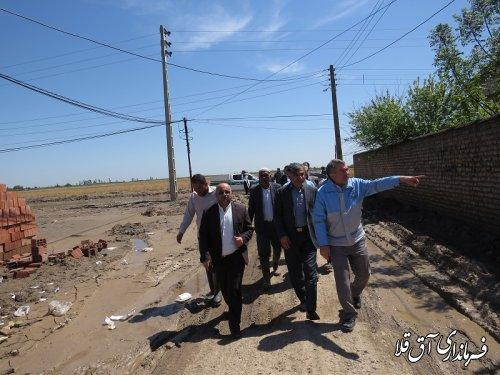 بازدید معاون توسعه روستائی و مناطق محروم رییس جمهوری از روستای سقر یلقی آق قلا