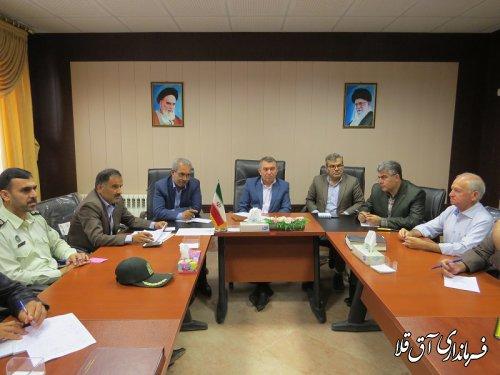 اولین جلسه کارگروه تنظیم بازار شهرستان آق قلا در سال جاری برگزار شد