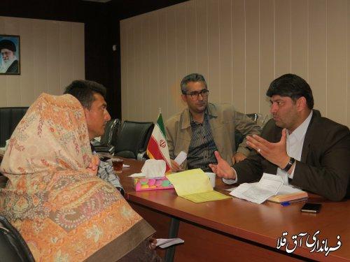 دومین برنامه ملاقات عمومی فرماندار با مردم شهرستان آق قلا برگزار شد