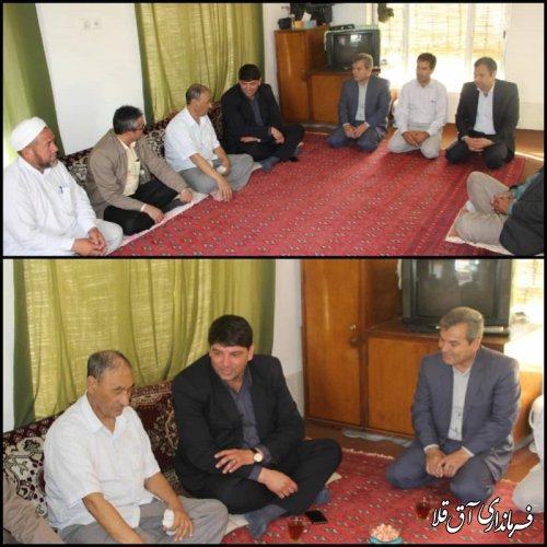 فرماندار شهرستان آق قلا از هنرمند عرصه موسیقی ترکمن٬عیادت بعمل آورد