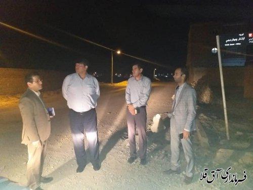 نماینده عالی دولت از شهرک ایثار شهر آق قلا بازدید میدانی بعمل آورد