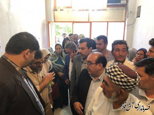 فرماندار شهرستان آق قلا بازدید مشترک به همراه مدیر کل بنیاد مسکن استان برگزار کرد