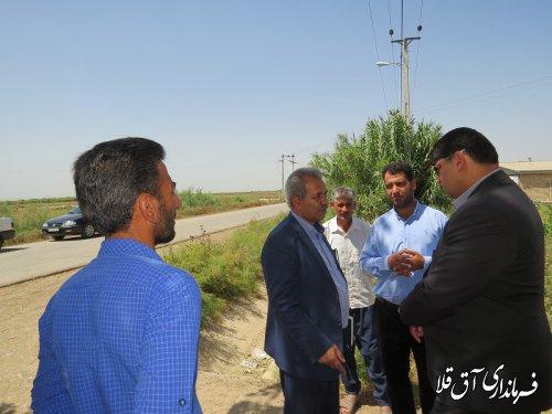 بالاترین مقام اجرایی دولت درشهرستان آق قلا از روستای اتحاد یک و دو بازدید بعمل آورد