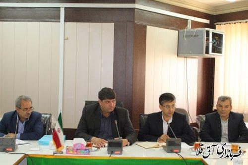 نهمین جلسه ستاد بازسازی و نوسازی شهرستان آق قلا برگزار شد