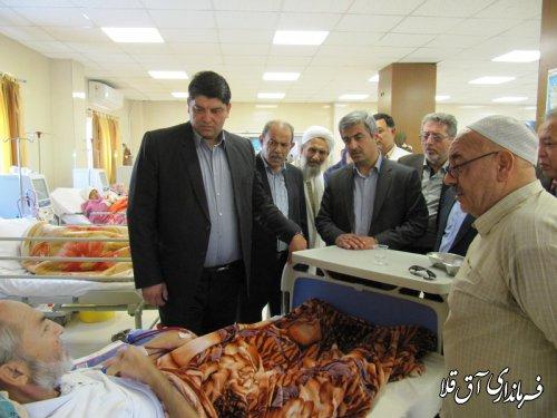 بالاترین مقام اجرایی دولت در شهرستان  از بیمارستان آل جلیل شهر آق قلا بازدید بعمل آورد