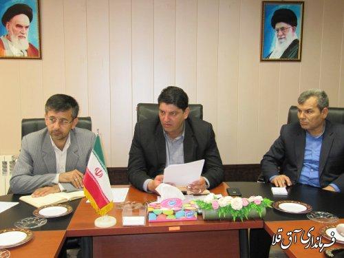 اولین جلسه شورای ترافیک شهرستان آق قلا در سال جاری برگزار شد