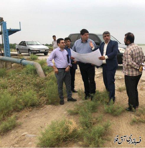 فرماندار و رئیس ستاد مدیریت بحران شهرستان آق قلا از سد وشمگیر بازدید بعمل آورد