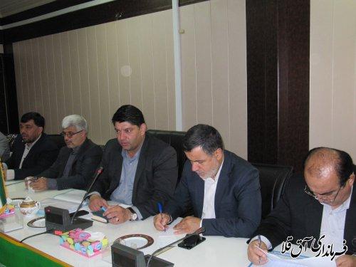 جلسه کارگروه نظارت و ارزیابی مناطق سیل زده استان در شهرستان آق قلا برگزار شد