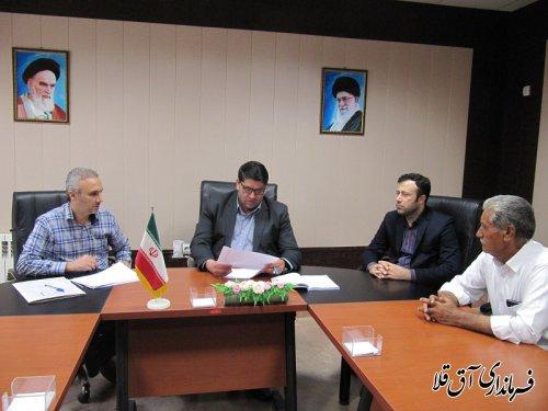 جلسه کمیته انطباق مصوبات شوراهای اسلامی شهرستان آق قلا برگزار شد