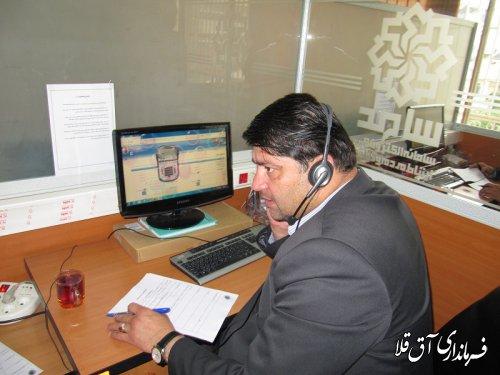 نماینده عالی دولت،پاسخگوی شهروندان شهرستان آق قلا در مرکز سامد بود