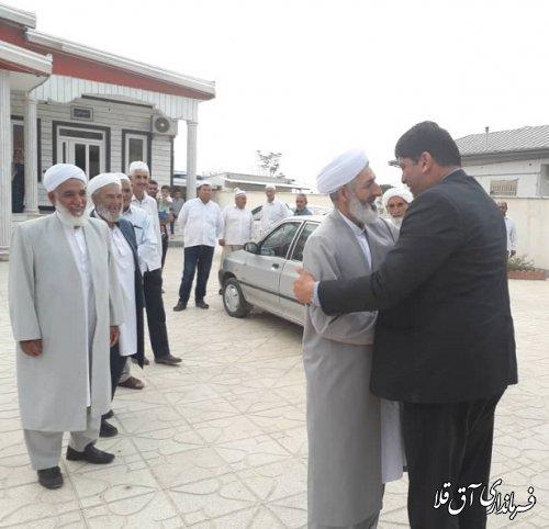۵۲۰ نفر زائرین شهرستان آق قلا در قالب ۴ کاروان به خانه خدا اعزام شدند