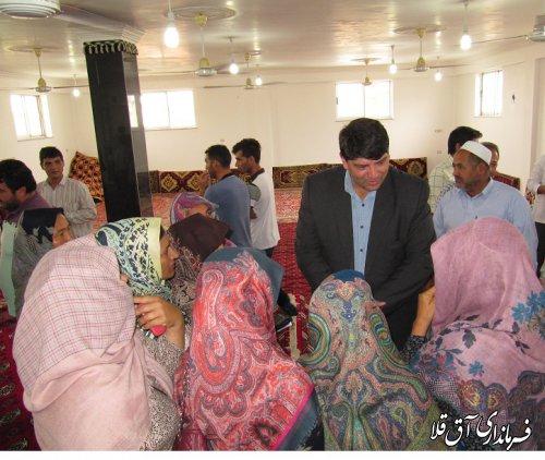 دومین میز خدمت در روستای سیل زده سلاق یلقی شهرستان آق قلا برگزار شد