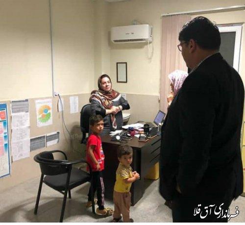 فرماندار شهرستان آق قلا از پایگاه های امدادی و خدمات رسان شهر انبار الوم بازدید کرد