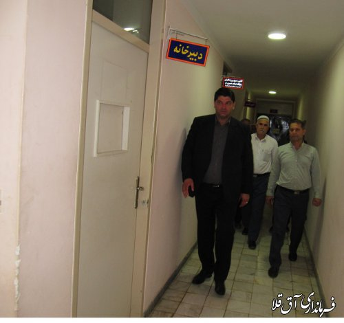 فرماندار شهرستان آق قلا بصورت سرزده از شبکه های زیرساخت آب و فاضلاب و ورزش و جوانان بازدید بعمل آورد