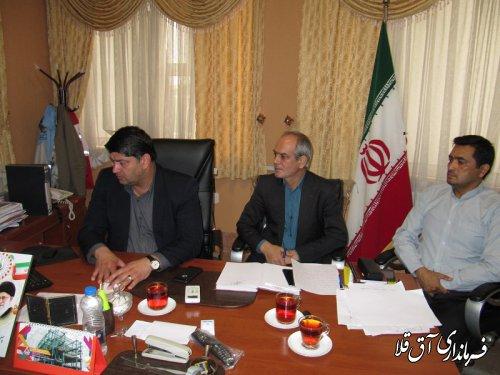 ششمین جلسه ستاد انتخابات استان با حضور فرماندار شهرستان آق قلا برگزار شد