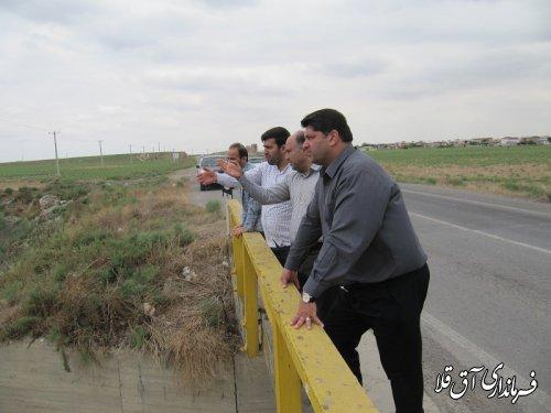 فرماندار شهرستان آق قلا از عملیات لایروبی رودخانه گرگانرود مسیر روستای آق قبر بازدید کرد