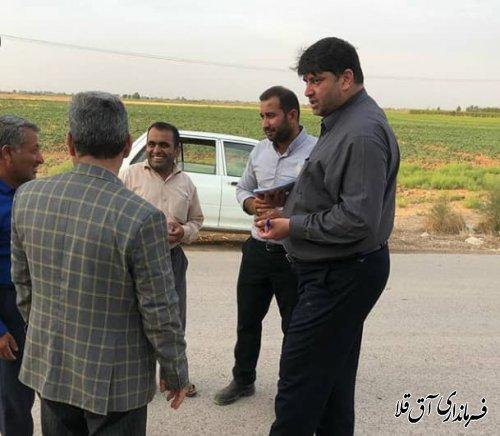فرماندار شهرستان آق قلا از روستاهای جماران،تپه ظهوریان و سازمان شاکریان بازدید میدانی بعمل آورد