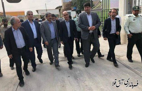 استاندار گلستان از واحدهای تولیدی احیا شده شهرک صنعتی آق قلا بازدید بعمل آورد