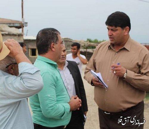 فرماندار شهرستان آق قلا از روستاهای بخش مرکزی بازدید میدانی بعمل آورد