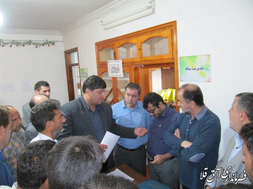 مدیر کل بازرسی وزارت کشور از مناطق سیل زده شهرستان آق قلا بازدید کرد